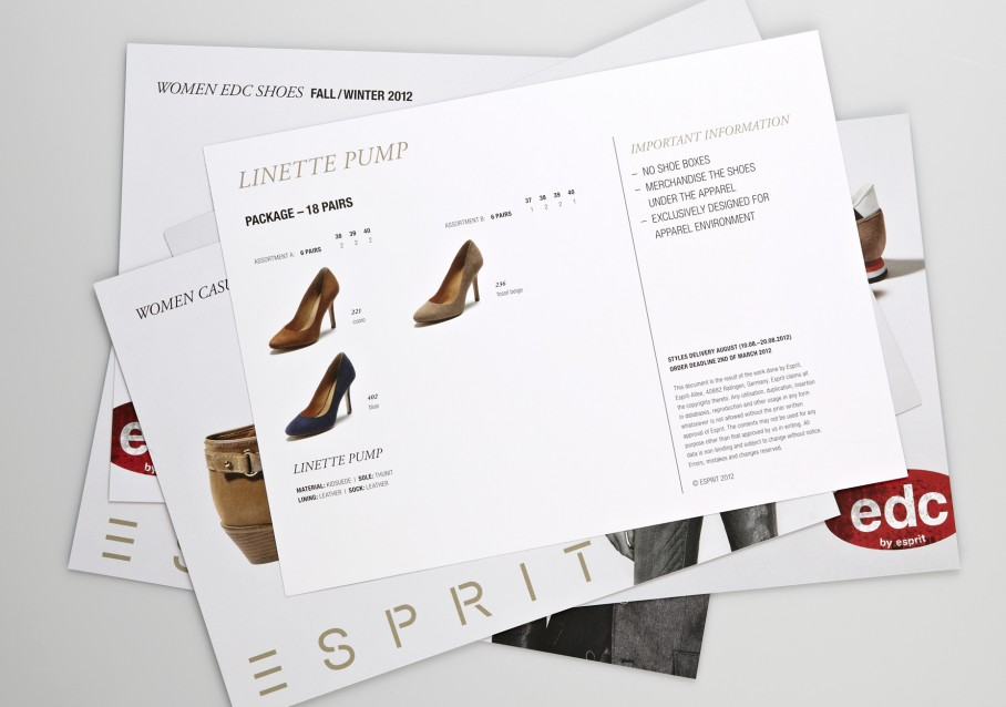 Esprit Shoes Salessheets Uebersicht 2