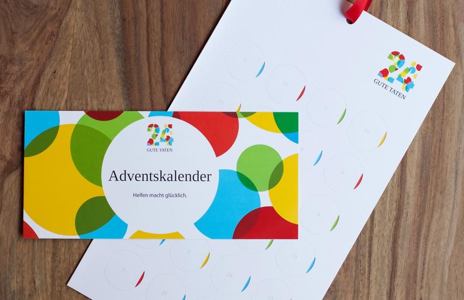 24 Gute Taten Adventskalender und Flyer