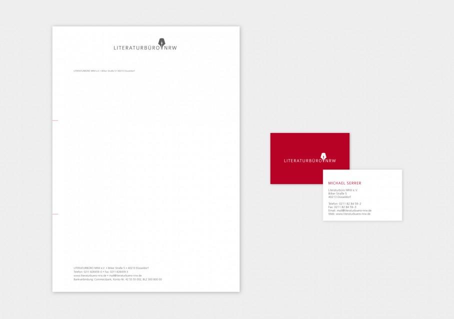 Literaturbuero NRW Geschaeftsausstattung