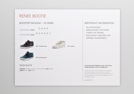 Esprit Shoes Salessheets 2