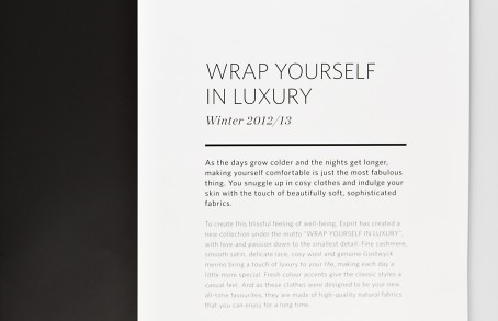 Esprit Wrap Yourself In Luxury Broschuere Detail
