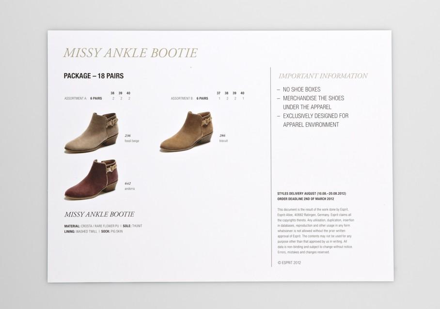 Esprit Shoes Salessheets 2
